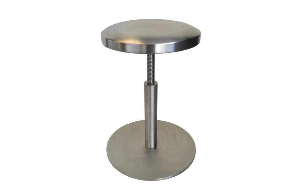 Sgabello autoclavabile regolabile con vite in acciaio inox uni