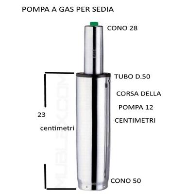 Ricambi Per Sedie Ufficio.Pompa Gas Cromata Ricambio Per Per Sedie Uni Form Srl